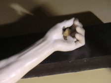 Benvenuto Cellini. Cristo Crucificado (detalle de la mano). ca. 1556-1562.
