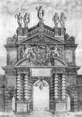 Milán, Puerta romana para la entrada de Mariana de Austria, 1648.