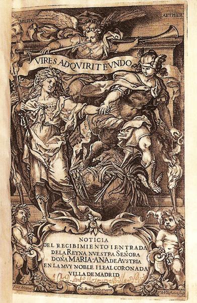 Pedro de Villafranca: Portada de la Noticia del recibimiento y entrada..., 1650.