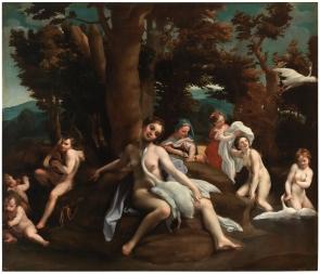 Eugenio Cajés: Leda y el cisne. Madrid, Museo Nacional del Prado.