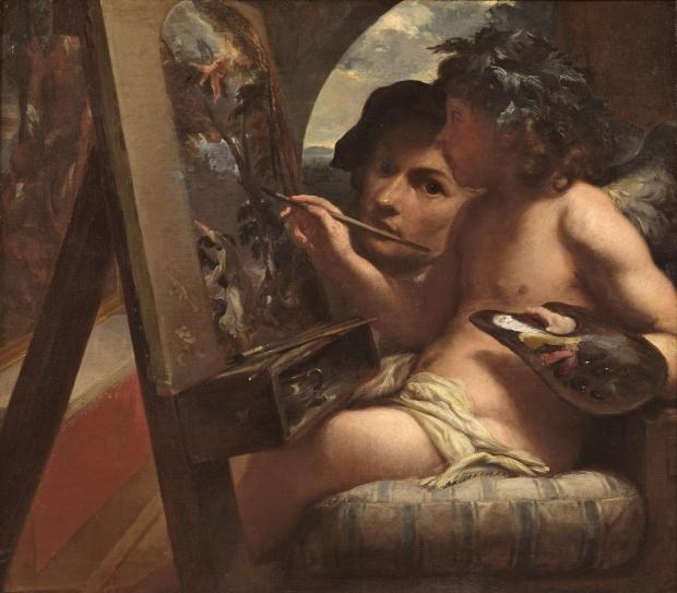 Livio Mehus: Genio de la pintura. Museo del Prado.