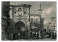 David Roberts: Casa del Carbón en Granada. 1832.