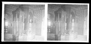 Sala árabe del Museo del Ejército con el detalle del mobiliario expositivo. Foto: Archivo Conde de Polentinos (IPCE)
