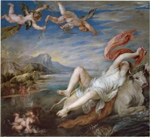 Pedro Pablo Rubens: El Rapto de Europa. Madrid, Museo Nacional del Prado.