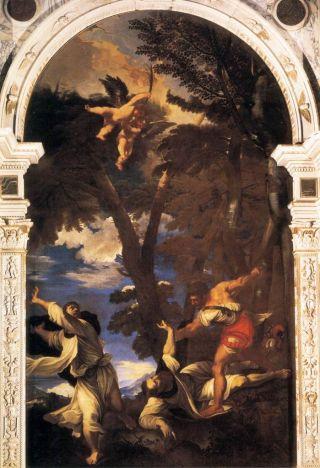 Johann Carl Loth: El martirio de San Pedro Mártir (copia de Tiziano). Basílica de San Giovanni e Paolo. Venecia