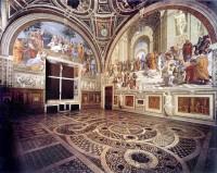 Rafael. Stanza della Segnatura. Palacios Vaticanos. Foto: wikipedia.
