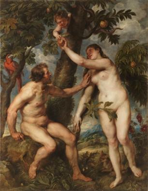 Pedro Pablo Rubens: Adán y Eva. Madrid, Museo Nacinoal del Prado.
