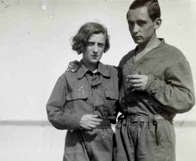 Foto de Anna-Eva Bergman y Hans Hartung en Menorca en 1932. Foto: Fundación Hartung Bergman.