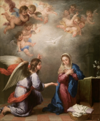 Bartolomé Esteban Murillo: La Anunciación. Madrid, Museo Nacional del Prado.