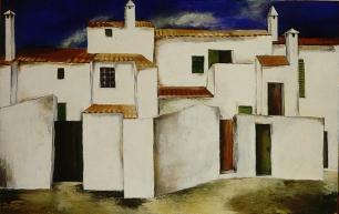 Anna-Eva Bergman: [Sín título], 1933, 50 X 80 cm, óleo sobre lienzo. Foto: Fundación Hartung Bergman.
