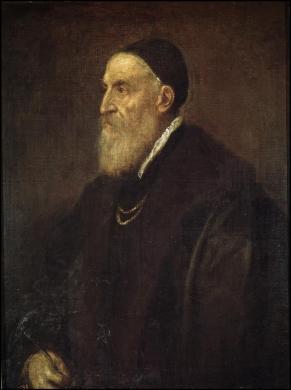 Tiziano: Autorretrato. Madrid, Museo Nacional del Prado.