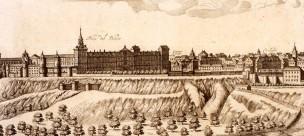 Julius Milheuseur: Detalle de la Vista de Madrid, ca. 1665. Madrid, Museo de Historia.
