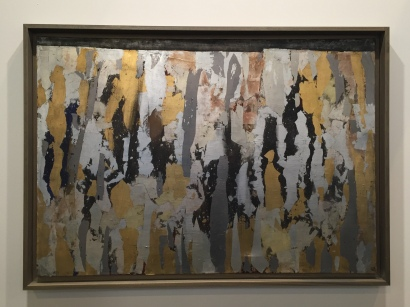Anna-Eva Bergman: Nº 47-1962-, Vinilo y láminas de metal sobre lienzo. Galerie Jerome Poggi. Foto: Investigart.