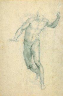 Miguel Ángel: Cristo Resucitado saliendo de su tumba, vuelta. Londres, British Museum, nº inv. 1887,0502.119.