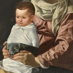 Diego Velázquez: Detalle de la Adoración de los Pastores. Madrid, Museo Nacional del Prado