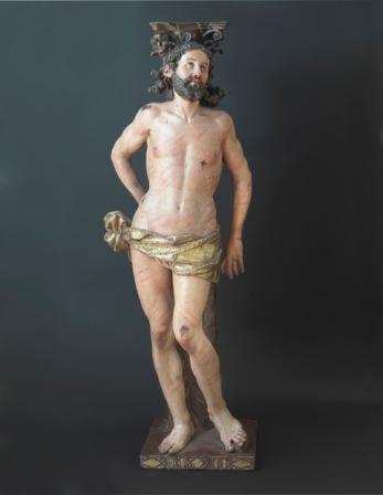 Sebastián Ducete: Cristo atado a la columna. Foto: Galería Caylus.