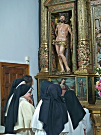 """La escultura """"Cristo atado a la columna"""" de Sebastián Ducete en el lugar para el que fue creada."""