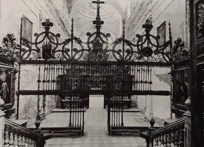 Estado del interior de la iglesia del Paular a mediados del siglo XX. foto: Ministerio de Cultura.