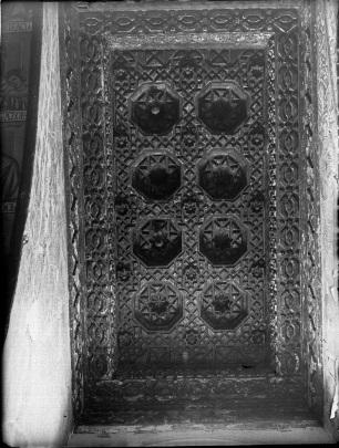 Ricardo del Arco: Fotografía de la techumbre de madera. Foto: Fototeca del Patrimonio Histórico.