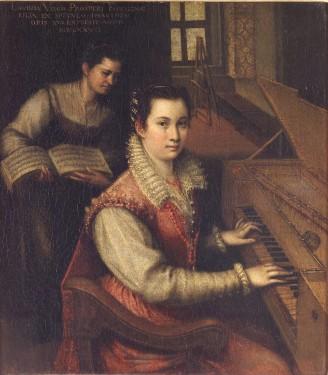Lavinia Fontana: Autorretrato tocando la espinela. Roma, Academia di San Lucca.