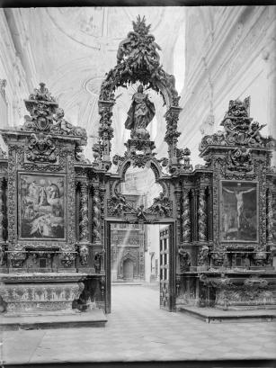 Separación entre los Coros en la Iglesia. Fondo Wunderlinch IPCE.