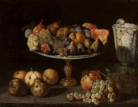 Fede Galizia. Bodegón de frutas y cacharros. Foto: wikicommons.
