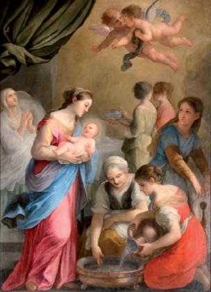 Plautilla Bricci: Nacimiento de San Juan Bautista. Poggio Mirteto.