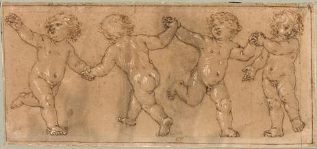 Giovanni Andrea Sirani: Niños danzando. Madrid, Museo del Prado.