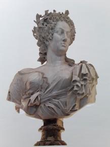 Giulio Cartari: La reina Cristina de Suecia, 1682. Mármol, PN. Palacio Real de la Granja de San Ildefonso [inv. 10027284].
