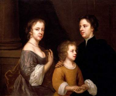 Mary Beale: Autorretrato con su marido y su hijo. (c) The Geffrye, Museum of the Home; Supplied by The Public Catalogue Foundatio
