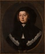 Mary Beale: Retrato de mujer con capucha negra. Washington, National Museum de Women in the Arts.