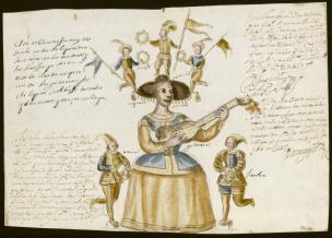 Diseño de la Tarasca para la procesión del Corpus de 1657. Madrid, Archivo de la Villa.