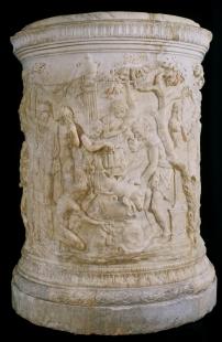 Taller romano: Fiesta dionisiaca, 20-30 d.c. Madrid, Museo Nacional del Prado.