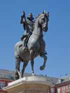 Giambologna: Estatua ecuestre de Felipe III. Madrid, Plaza Mayor. Foto: wikipedia.