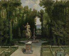 Anónimo madrileño: Vista de los Jardines de la Casa de Campo. Museo de Historia de Madrid (depósito del Museo del Prado).
