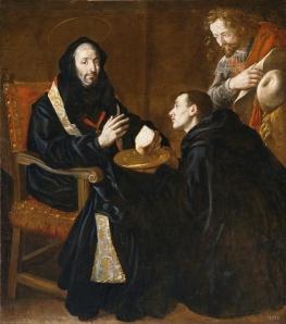 Fray Juan Andrés Rizi, San Benito bendiciendo el pan. Museo del Prado.