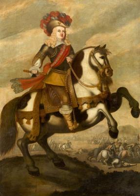 Anónimo: Carlos II niño a caballo. Isbilya octubre 2017, lote 63.