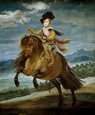 Diego Velázquez: Príncipe Baltasar Carlos a caballo. Madrid, Museo Nacional del Prado.