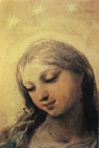 Proceso de limpieza del rostro de la Virgen. Último estado.