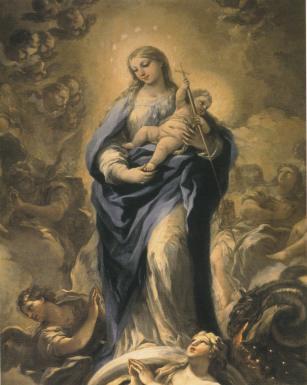 Comparativa- La figura de la Virgen después de la restauración.