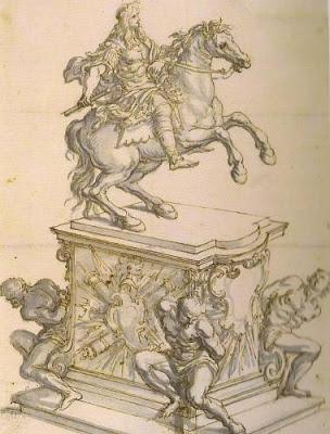 Giovanni Battista Foggini: Carlos II a caballo. Dresde, Staatliche Kunstsammlungen.