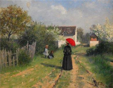 Paisaje en primavera (1888) Elin Danielson.
