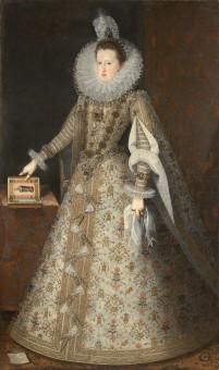 Juan Pantoja de la Cruz. Margarita de Austria. Londres, Royal Collection.