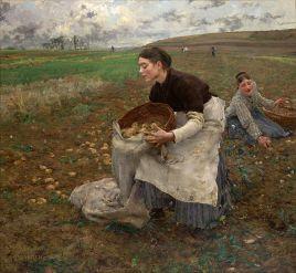 Temporada de octubre (1878) Jules Bastien Lepage. Foto: Google Art Proyect.