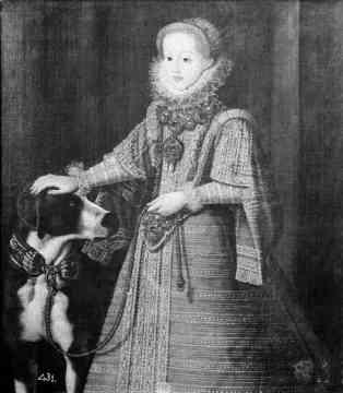 Bartolomé González: Retrato de la archiquesa María Cristerna, cuñada de Felipe III, princesa de Transilvania. Depositado por R.O en la Embajada de España en Lisboa en 1919. Desaparecido.