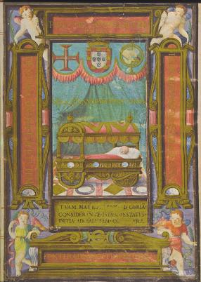 Francisco de Holanda (?): Sebastián de Portual recién nacido. Foto: wikicommons.