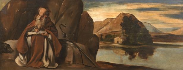 Juan Bautista Maíno. San Antonio Abad en un paisaje. Museo del Prado. Madrid.