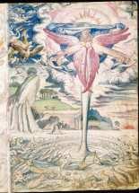 Francisco de Holanda: Creación de los animales. De Aetatibus Mundi Imagines. Madrid. BNE.