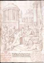 Francisco de Holanda: Salomón y la Reina de Saba. De Aetatibus Mundi Imagines. Madrid. BNE.