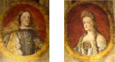 Antonio Palomino: Retratos de Carlos II y Mariana de Neoburgo en el Oratorio de la Casa de la Villa.